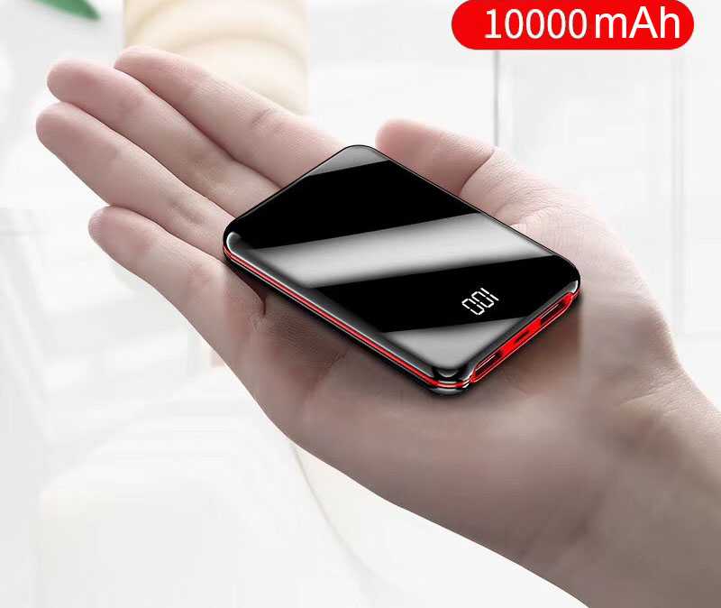 Consumer Electronics Mini power bank 10000mAh portable fast charging powerbank with digital power display