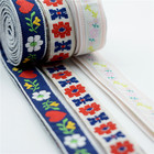 Ribbon Ribbons Clothes Roll Ribbon Free Sample 2020 Ethnic Printed Ribbon Stripe Flower Ribbons Roll Embroidery For Clothes Label