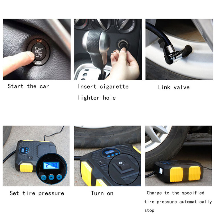 Factory hot sale good quality air pump for car tire compressor inflator