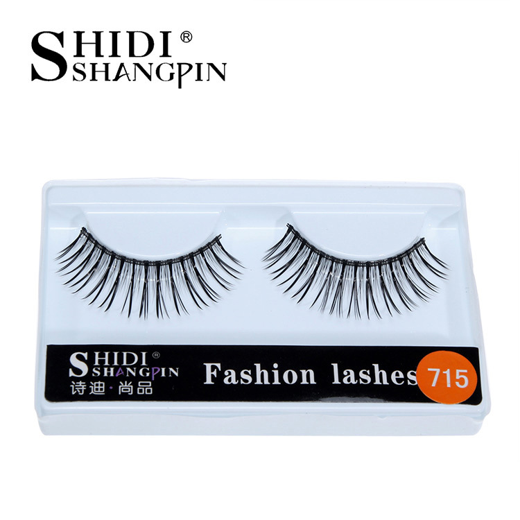 10 pairs of false eyelashes Natural cross section upper eye false eyelashes 715 Cross-border supply