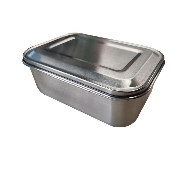Paslanmaz çelik öğle yemeği kutusu bölme konteyner bölücüler ile