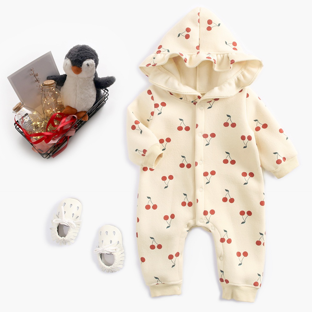S33970W  Wholesale 100% cotton baby clothes soft stylish baby winter romper