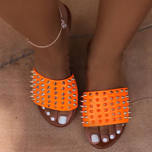 New 2020 Sandals Women Slippers European And American Women's Slippers Nail Shoes Womens Slippers For Women