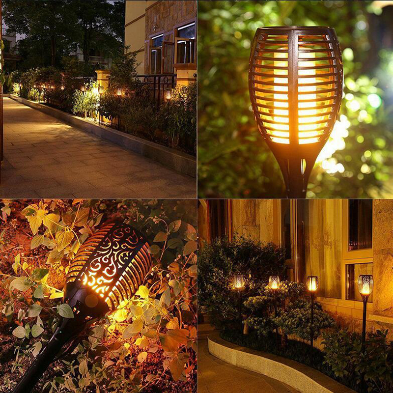 RGB Multi Color Change Solar Powered LED Garden Lamp Landscape Decor Garden Lawn Light
