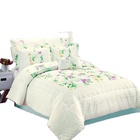 lace embroidery poly cotton bedding set crochet bed sheet
