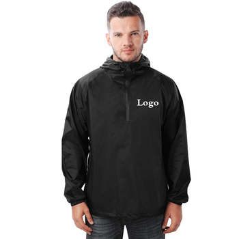 Custom Wholesale Outdoor Lightweight Water Repellent Foldable Mens Nylon Windbreaker Jackets Windbreaker