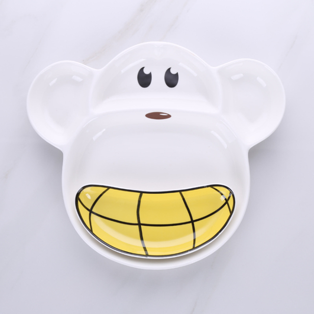 Cartoon Design Eco Friendly Melamine Material Plate Sets Economic and Reusable BPA Free For Kids
