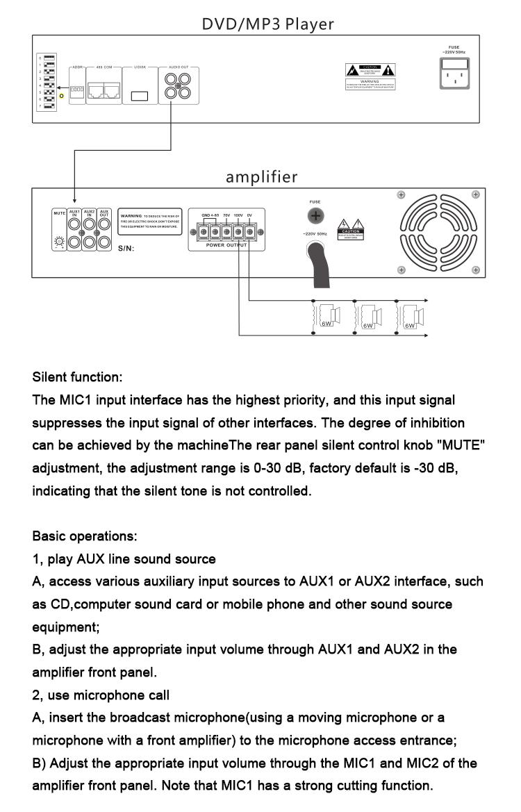 Mp3 500W programlanabilir güç mikser amplifikatör küçük uygulama için