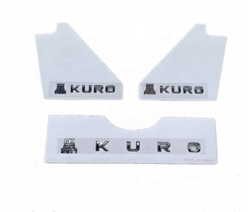Hei Kuro Chrome Car Emblem for Lexus LX570 2010-2019 Badge Sticker