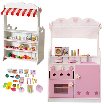 2020 hot sale popular pretend play cutting food vegetable fruit toy wooden kids big kitchen set toy child kitchen toys for girls