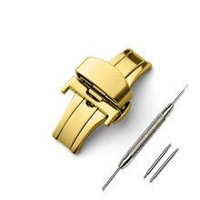 Автоматический двойной щелчок Бабочка Пряжка аксессуары для часов Кнопка сложения застежка 16 мм 20 мм 22 мм 24 мм ремешок для часов(Китай)