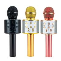Wireless Kids Karaoke Microphone with Speaker, Portable Handheld Karaoke Player for Home Party KTV Music Singing Playing