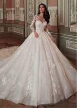 Свадебные платья 2020 Vestido De Noiva, сексуальные винтажные Свадебные платья принцессы с короткими рукавами и объемными цветами(Китай)