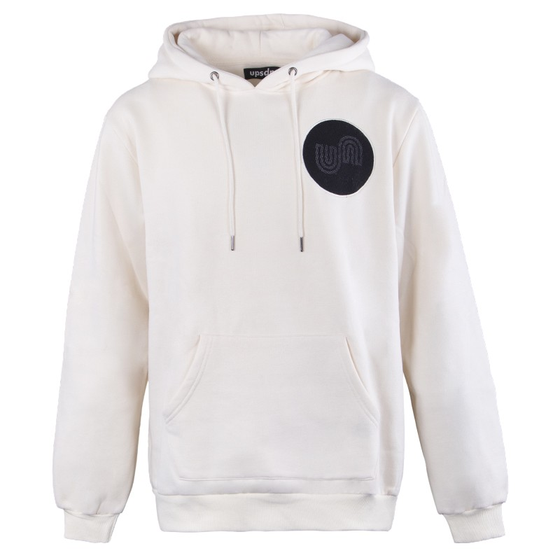 unisex wholesale 300gsm fleece custom white hoodie dropshipping