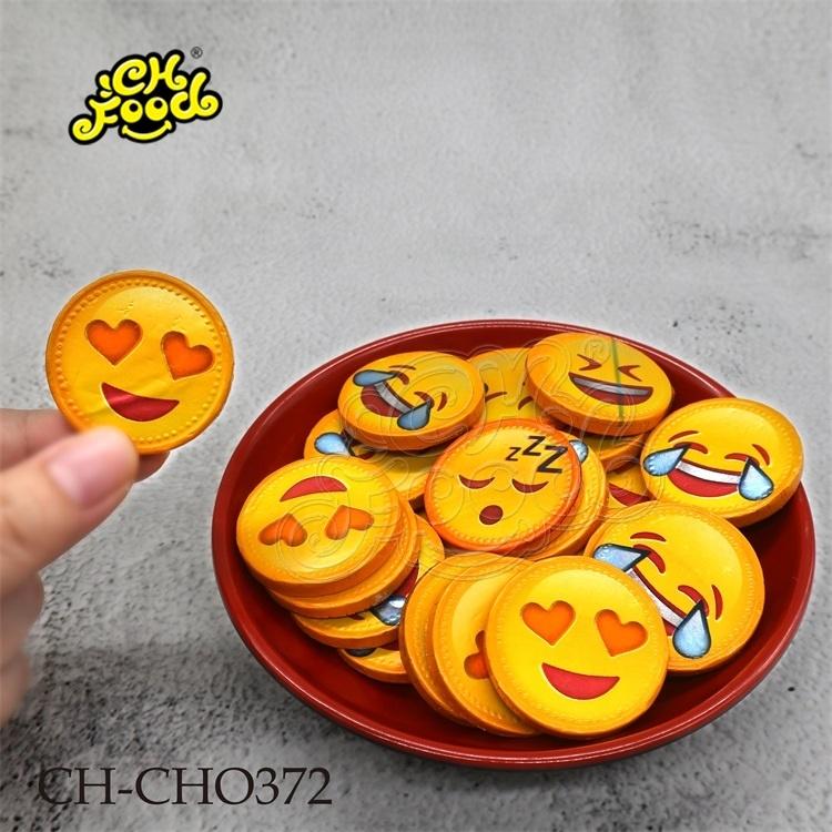 CHFOOD Halal Fun face chocolate coin CH-CHO372