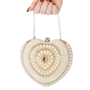 2019 New clutch bag pearl embroidered clutch bag  diamond evening bag