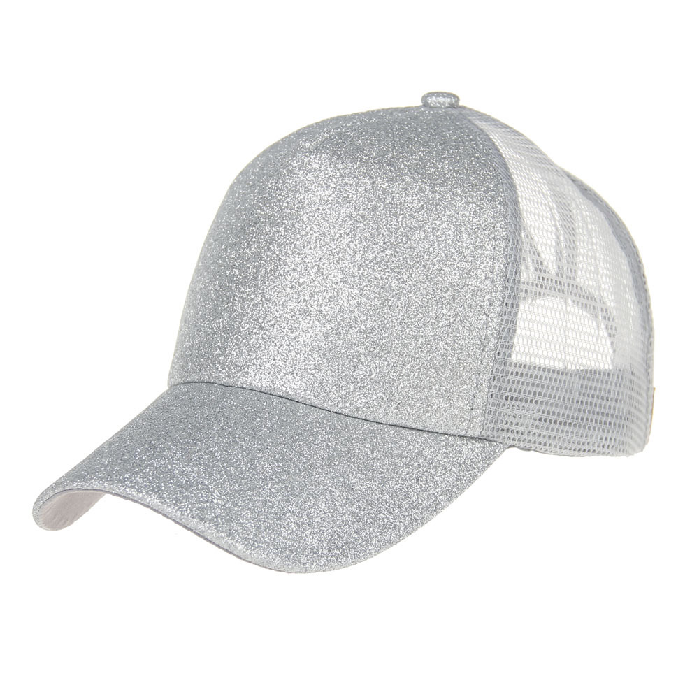 My Miyar  fashion trucker hat  baseball high ponytail glitler mesh hat with custom logo