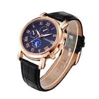 Fashion Gold Men Sport Watches Military Watches Men Roman Numerals Business Quartz Watch Relogio Masculino