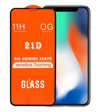 21D Full Glue Mobile Phone Tempered Glass Screen Protector For Redmi Note 8 Pro
