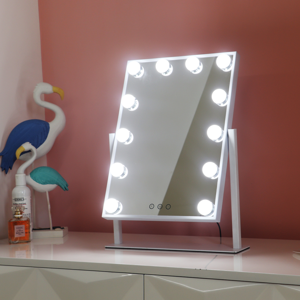 Professional Portable Small 360 Rotation Smart Hollywood Led Light Make Up Mirror With Light