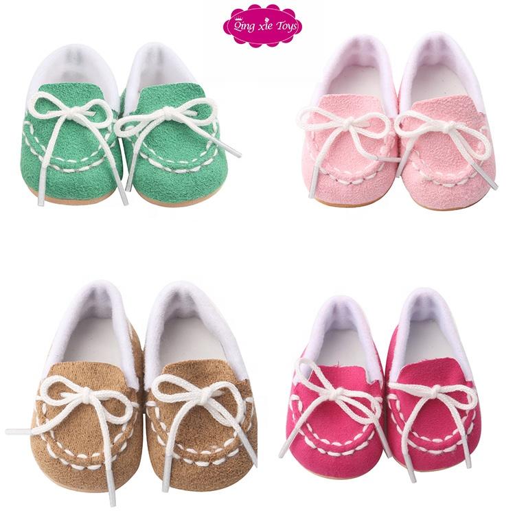 """El yapımı bebek ayakkabıları 18 """"amerikan oyuncak bebek rahat ayakkabılar kızlar olmak bebek"""