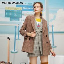 Vero Moda Новый Винтажный женский двубортный блейзер с лацканами, пиджак | 319308589(Китай)