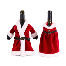 <span class=keywords><strong>Natale</strong></span> Rosso Bottiglia <span class=keywords><strong>di</strong></span> Vino Copre Cappotto <span class=keywords><strong>di</strong></span> Stile Del Vestito Champagne Copertura per <span class=keywords><strong>Natale</strong></span> Festa A Casa <span class=keywords><strong>Tavolo</strong></span> <span class=keywords><strong>Da</strong></span> <span class=keywords><strong>Pranzo</strong></span> Decorazione