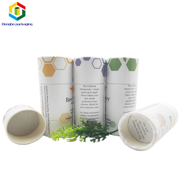 Eco Friendly Cardboard Push Up Deodorant Containers Kraft Lip Balm Paper Tube