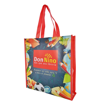 waterproof reusable glossy laminated shopping non woven bag