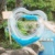 90cm New Inflatable Pool Float Summer Party Toy Feather Transparent Heart Swimming Ring with Colorful Glitters Inside