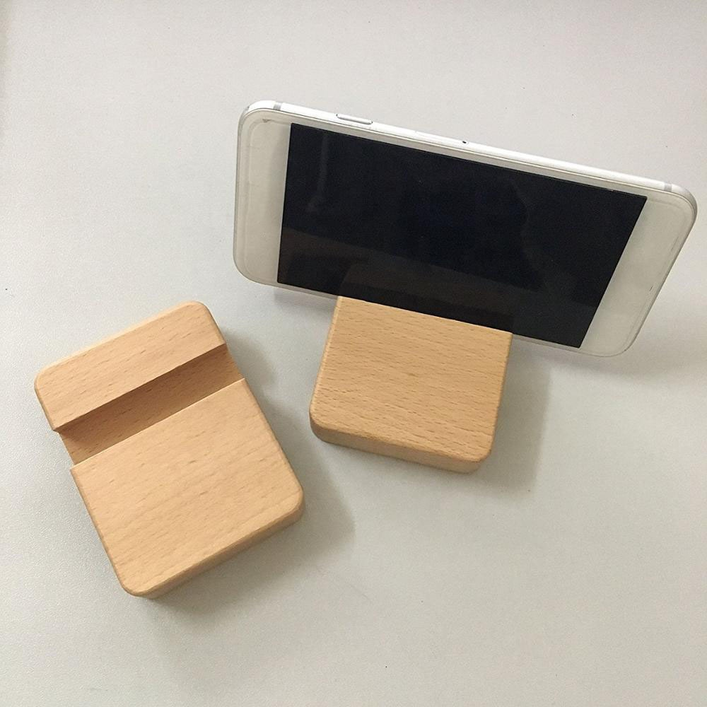 Phone holder charger holder bamboo wooden charger holder stands for phone