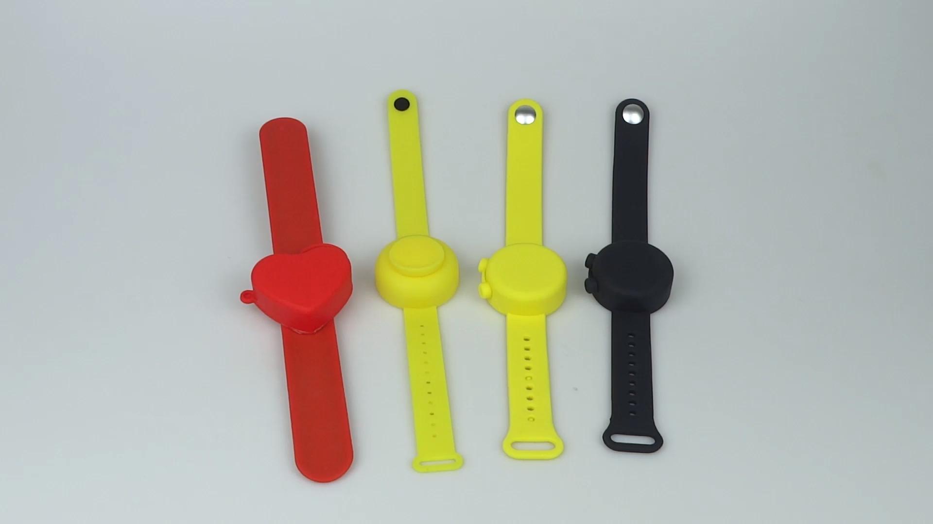 Children Hand Sanitizer Bracelet Portable Soap Dispenser Reloj Desinfectante De Manos Refill Sanitation Wrist Band