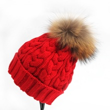 2019 Zr Fashion Vrouwen <span class=keywords><strong>Winter</strong></span> Warme Muts Wasbeer Bont Pompom Mutsen Hoed