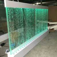 new design led acrylic water bubble wall air curtain