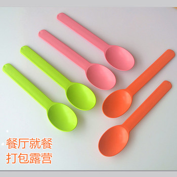 100% biodegradable disposable PLA ice cream spoons yogurt spoons