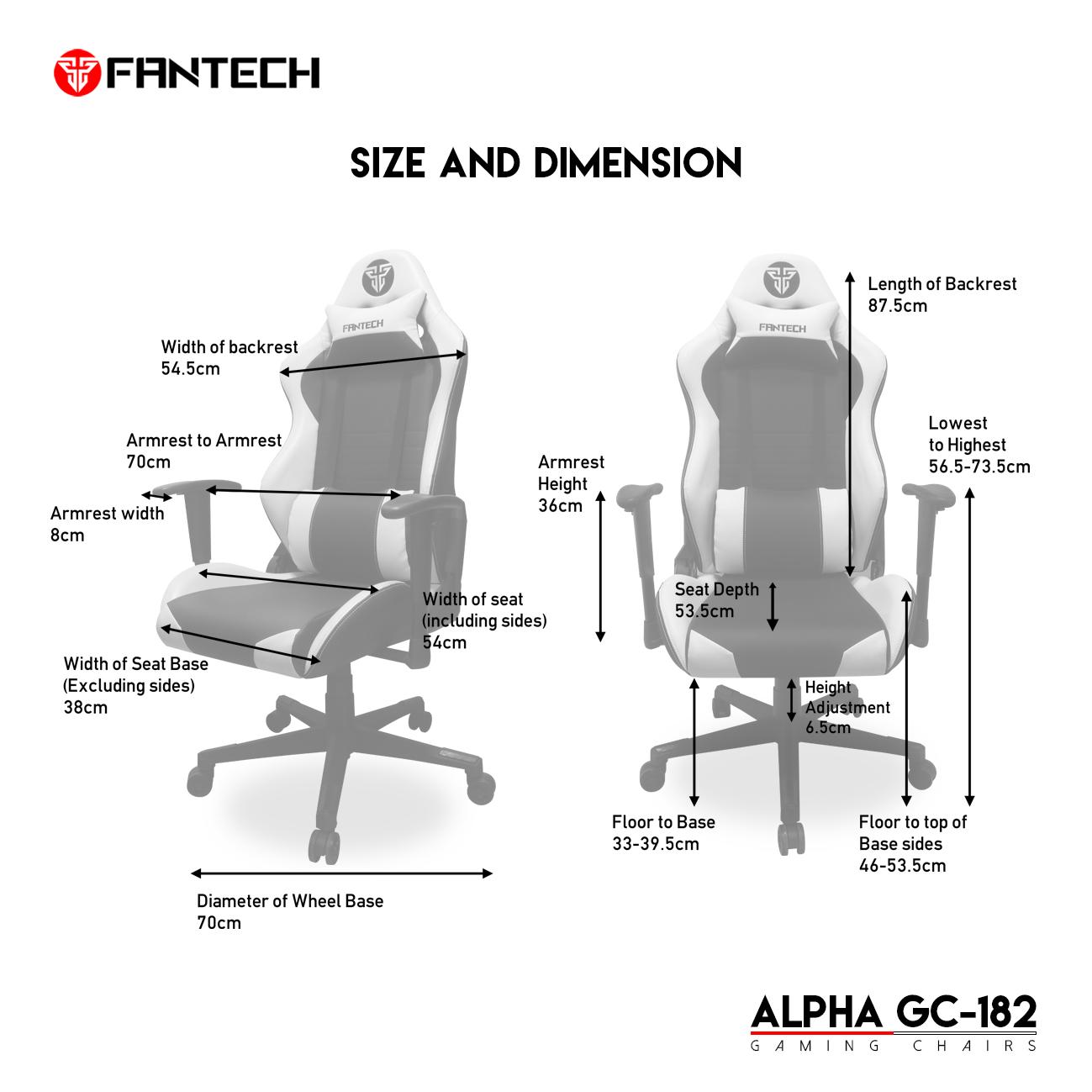 Fantech GC-182 Alpha Gaming Chair 12