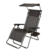 Outdoor Chaise Lazy Sun Lounge Beach Garden Recliner Zero Gravity Chair with Canopy