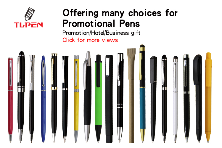 Promotional twist action touch screen stylus metal ballpoint pen