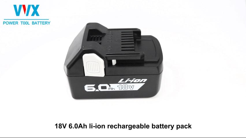 18v replacement li-ion battery 6000mah Hita chi cordless drill battery BSL1840 BSL1850 BSL1860