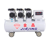 Environment-friendly Oil-less piston rings air-compressor 180 liter silent air compressor