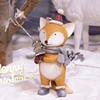 Hot sale hand painted resin xmas ornaments christmas decor crafts animated resin fox figurine
