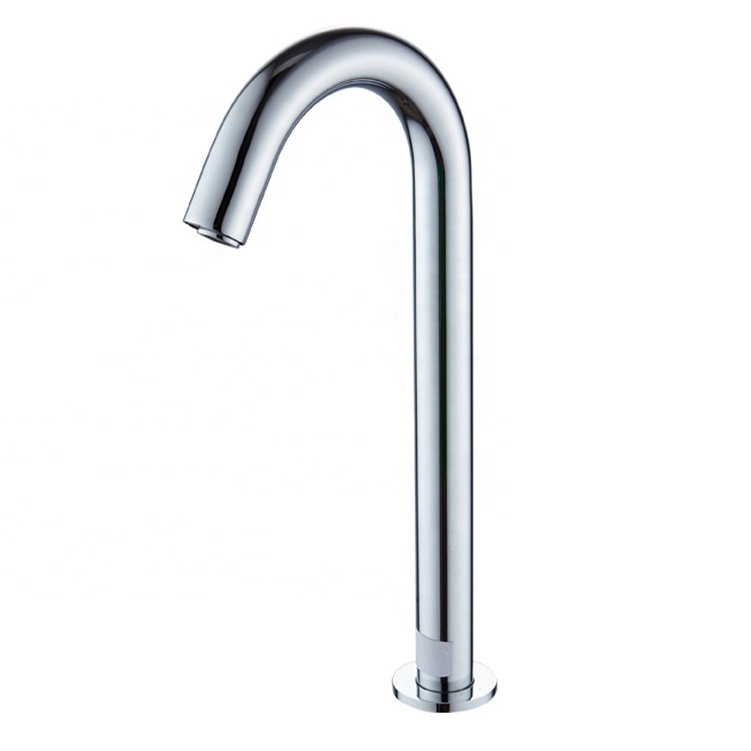 Deck mounted vessel sink automatic sensor faucet grifo electrico polished chrome brass bathroom faucet sensor