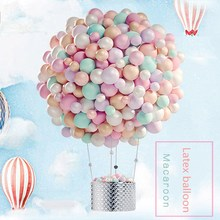100pcs Großhandel Pastell Latex Ballon Kit 10 Zoll Assorted Macaron Candy Farbe Latex Ballons