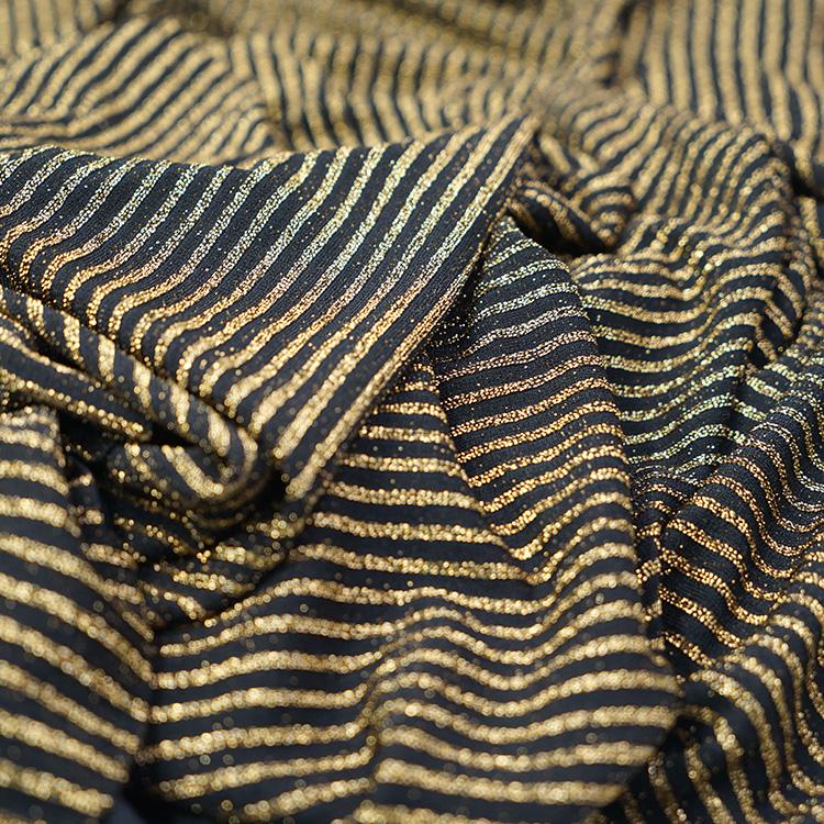 High Quality Fashion Wrinkle Glitter Metallic Fabric Dress Fabric