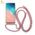 For Samsung S10 Acrylic Hard Back and Soft Edges Anti Shock Protective Hand Strap Necklace Chain Clear Cell Phone Case with band