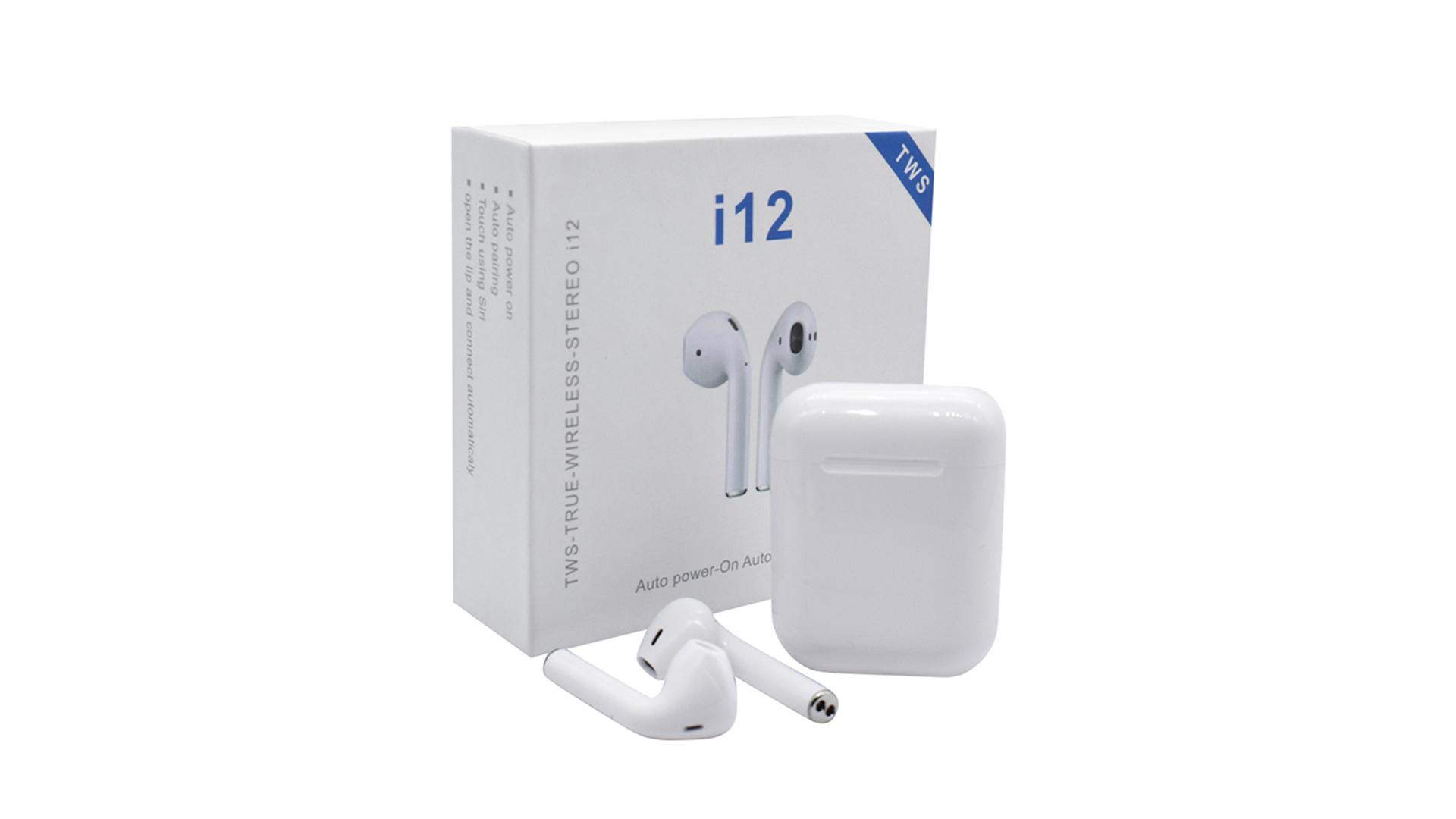 Hot Bán Cặp Song Sinh Cảm Ứng I12 V5.0 TWS Stereo Earbuds I12 Tws Tai Nghe I12 Headphone Với Sạc Trường Hợp Không Dây Sạc TWS