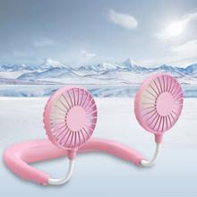 Портативный вентилятор Usb Перезаряжаемый мини вентилятор для шеи настольный вентилятор с светильник + ароматерапия охладитель воздуха кон...(Китай)