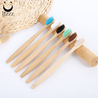 Soft bristle round handle natural Bamboo Toothbrush Personal Care biodegradable bamboo charcoal bristle for adult