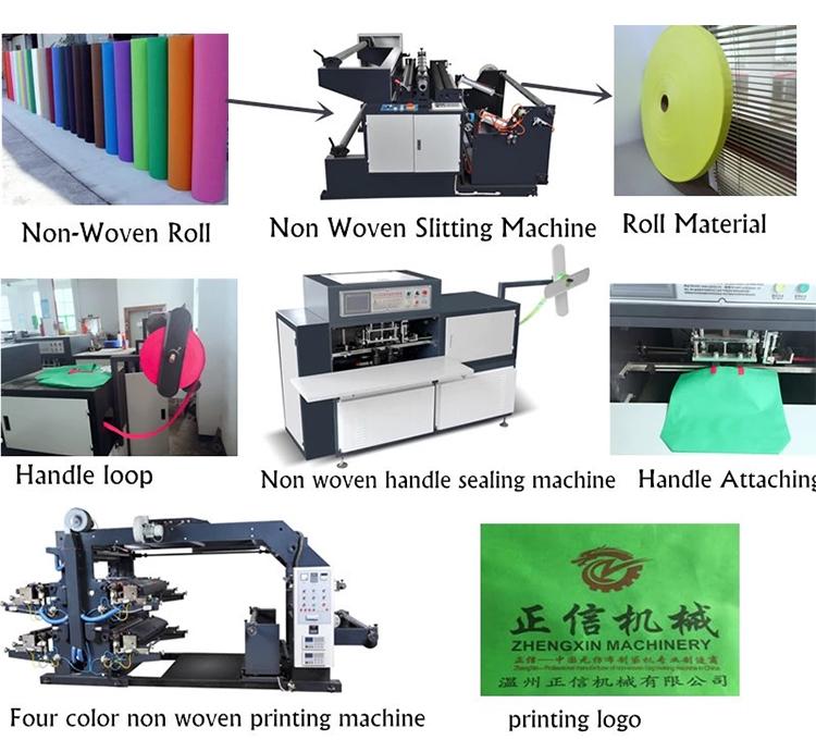 Zhengxin Multi-functioanl нетканые футболки C вырезать жилет сумка U вырезать мешок делая машину