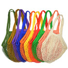Cotton Tote Bags Net GOTS Certified Natural Tote for Fruits and Vegetables Produce Reusable Organic Cotton Mesh Bags